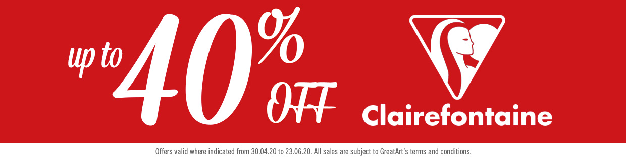 Sales are ON! 40% Clairefontainne