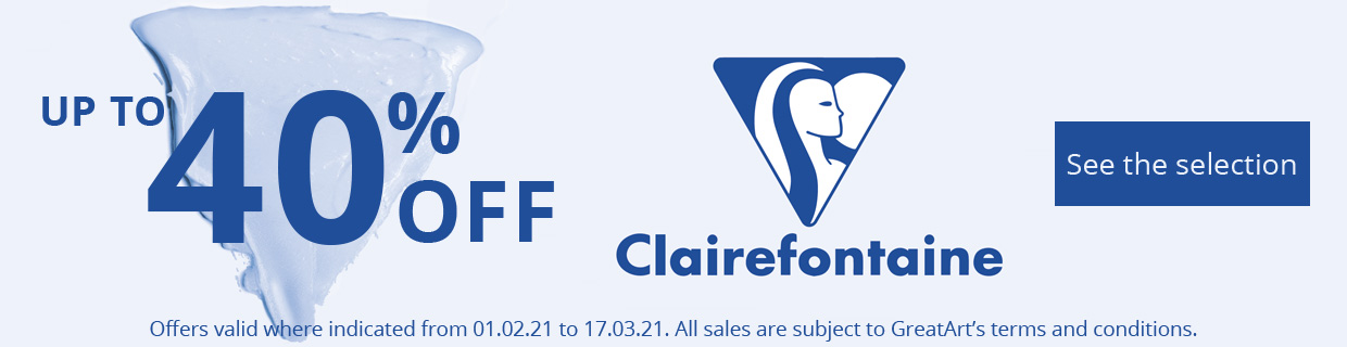 WINTER SALE 40% CLAIREFONTAINE